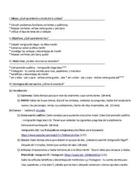 Temas polémicos familiares: IB Spanish unit plans