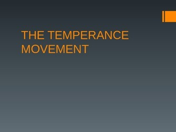 Temperance Movement Powerpoint