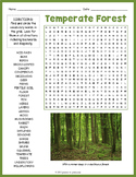 Temperate Forest Biome Word Search Worksheet