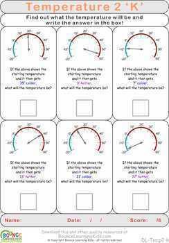 Temperature 2 (16 Numeracy & Visual perception sheets)
