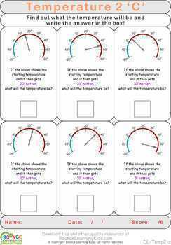 Temperature 2 (16 distance learning worksheets for Numeracy & Visual perception)