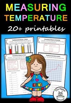 Measuring Temperature – 20 worksheets/printables (Measurement)