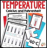Measuring Temperature Worksheets, Task Cards and Puzzles