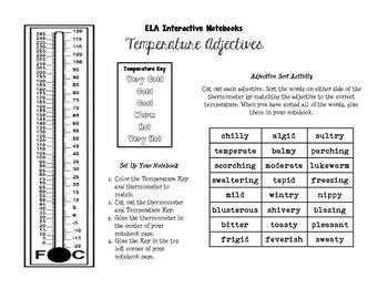 Temperature Adjectives