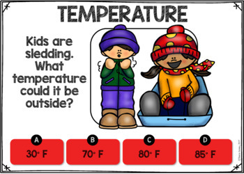 Temperature BOOM CARDS
