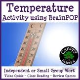 Temperature Activity using BrainPOP