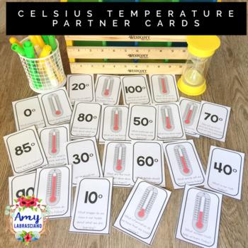 Temperature Celsius Partner Pairing Cards