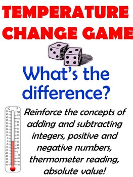 Temperature Change Dice Game - Integers