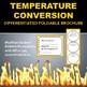 Temperature Conversion Foldable Brochure for INB