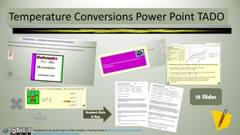 Temperature Conversion Power Point TADO