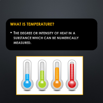 Temperature Conversion PowerPoint (editable)