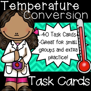 Temperature Conversions Task Cards