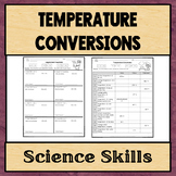 Temperature Conversions Worksheet