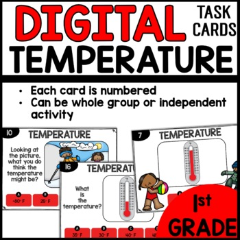 Temperature DIGITAL TASK CARDS