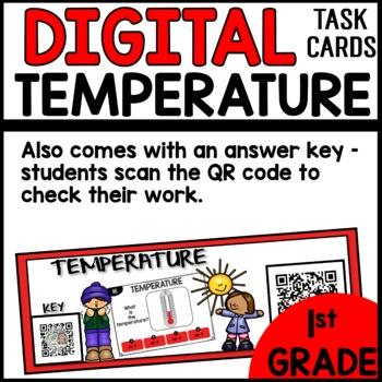 Temperature DIGITAL TASK CARDS