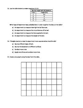 Temperature, Graphing, Physical Properties Quiz