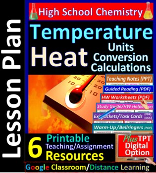 Temperature & Kinetic Energy - Worksheets & Practice Questions for HS Chemistry