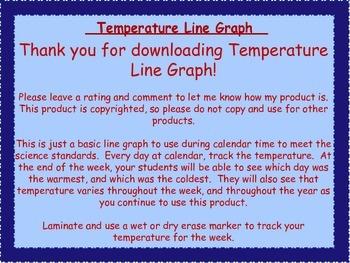 Temperature Line Graph Freebie