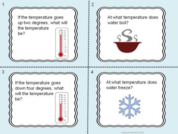 Temperature in Celsius Activity Pack