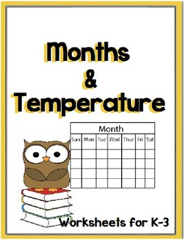 Temperature, Months, Seasons and Days of the Week NO PREP