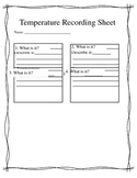 Temperature Recording Sheet