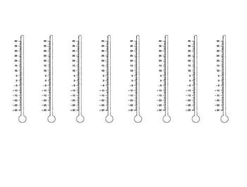Temperature - Small Thermometers - 1 page FREEBIE