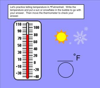 Temperature Smartboard Lesson