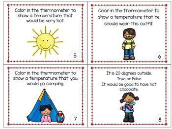 Temperature Task Cards