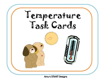 Temperature Top Dog Task Cards