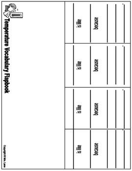 Temperature Vocabulary Flapbooks