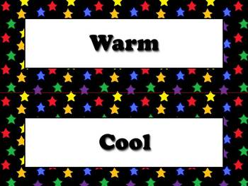 Temperature Vocabulary Strips for Calendar - Superstars Theme
