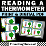 Temperature and Thermometer Activities, Reading a Thermometer Task Cards