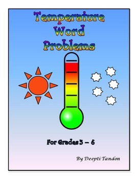 Temperature Word Problems For Grades 3-6