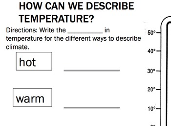 Temperature and Thermometers - Common Core Aligned