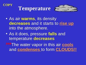 Temperature vs. Pressure