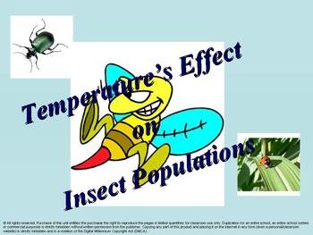Temperature's Effect on Insect Populations.