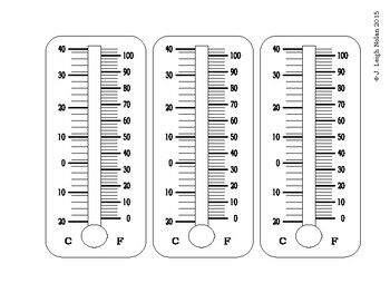 Temperatures & Thermometers Packet