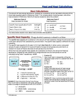Heat (Thermal) Energy Units & Calculations: Essential Skills Lesson #3