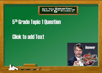 Are you smarter than a 5th grader powerpoint template game for the are you smarter than a 5th grader powerpoint template game for the classroom toneelgroepblik Image collections