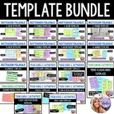Template Bundle Foldables, Flipbook, Task Cards, Flash Cards, Puzzles, Games