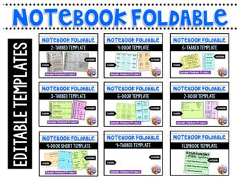 Template Bundle Foldables, Flipbook, Task Cards, Flash Cards, Puzzles, Games