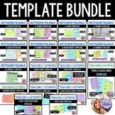 Template Bundle Foldables, Flipbook, Task Cards, Puzzles,