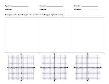 Template Graph Paper Systems By Substitution & Elimination