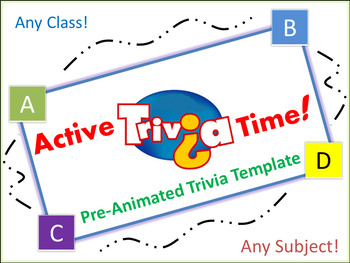 """Jump in the Box"" Trivia Game - Works for any class!"