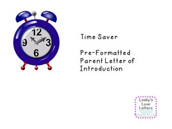 Time Saver Template Letter of Introduction