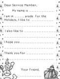 Template - Letters for Military During the Holiday