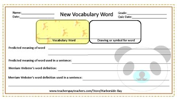 Template: Meet your new Vocabulary Word
