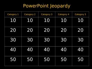 Template--PowerPoint Jeopardy