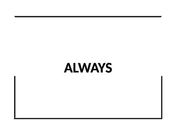 Template for Always, Sometimes, Never activity
