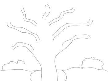 Template for Apple Tree or Fall Tree Illustration